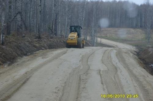 Межпромысловые, дорога от скважины 392 с устройством причала на р. Васюганка